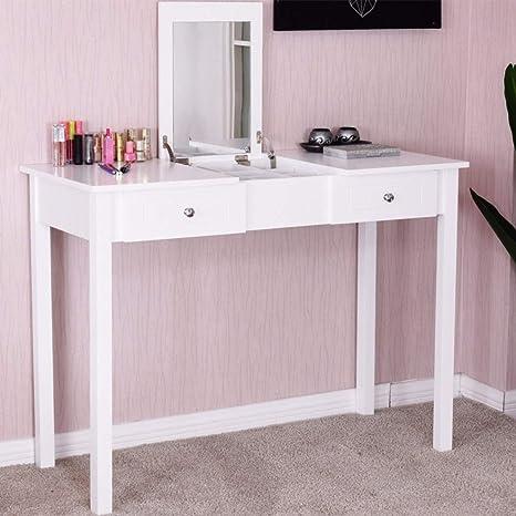 Amazon.com: Modern Makeup Vanity Table White Bedroom ...