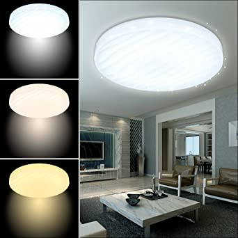 VGO® 3 in 1 Colour Changing LED Ceiling Light Modern Round