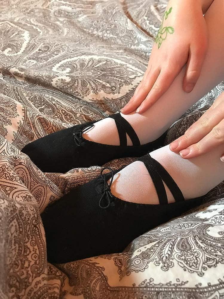 Chaussures de Ballet Fille Chaussures de Pilates Split Plate Fille Chaussures de Danse Gymnastique Yoga Chaussons