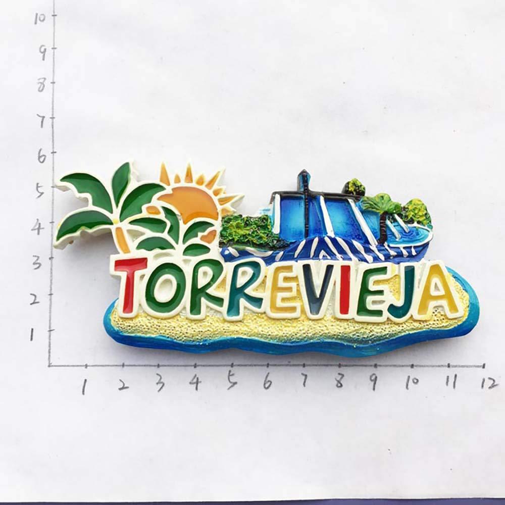 3D Torrevieja España Nevera Imán de Nevera Recuerdos Turísticos ...