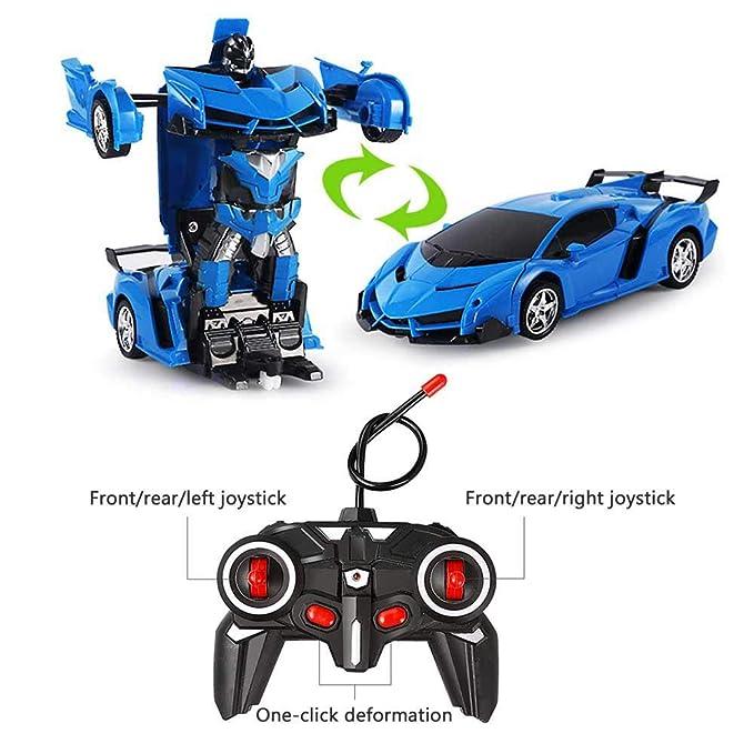 Control 1 Transforma Para Kobwa Se Juguete Botón En De 18 Transformación Un Coche Rc Robot CocheTransformar Niños Modelo mvnwN80