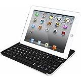 iPad4/iPad3/iPad2 用ワイヤレス Bluetooth キーボード 超薄☆スリム合体型☆ (ipad2 超薄シルバー/ブラック)