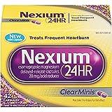 Nexium 24HR ClearMinis Heartburn, 42 Delayed Release Capsules (Pack of 2)