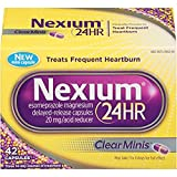 Nexium 24HR ClearMinis Heartburn, 42 Delayed Release Capsules (Pack of 2)
