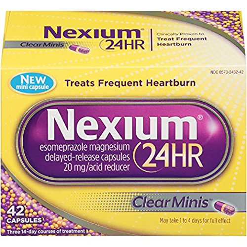 Nexium 24HR ClearMinis Heartburn, 42 Delayed Release Capsules (Pack of 2) by Nexium
