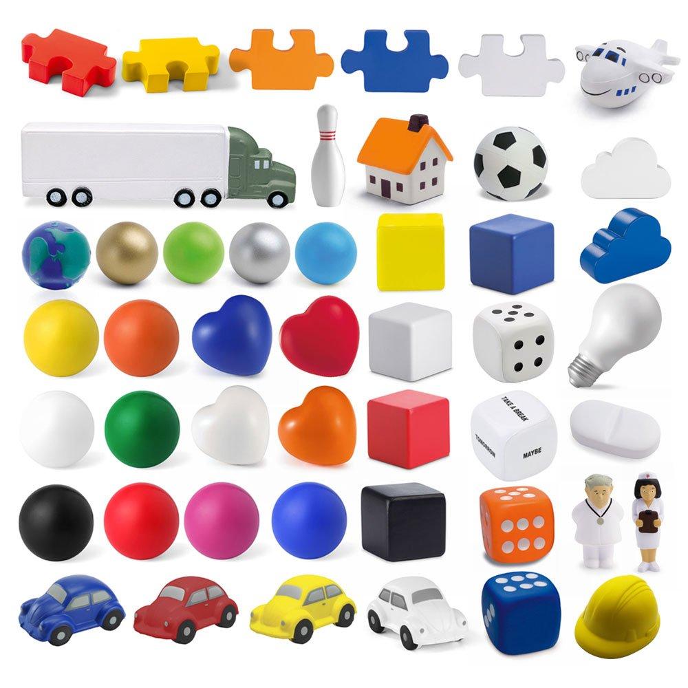 eBuyGB Anti-Stress-Helfer Ball Squeezy Toy Handübung - ideal für Linderung von Stress und Anspannung orange One Size 1291610