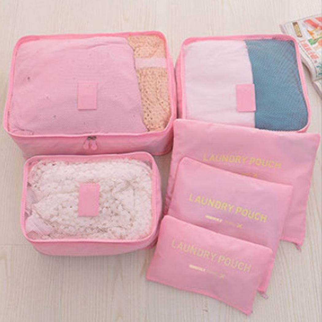 Luggage Organizer Pouch Kaimu 6 Set Travel Storage Bags Multi-Functional Clothing Sorting Packages,Travel Packing Pouches
