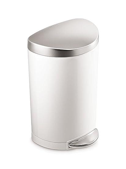 Step Trash Can Bathroom. Simplehuman  Gallon Stainless Steel Small Semi Round Bathroom Step Trash Can