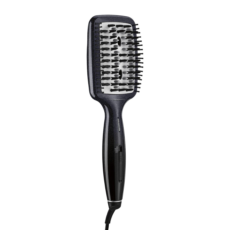 INFINITIPRO BY CONAIR Diamond-Infused Ceramic Smoothing Hot Brush/Straightening Brush; Black