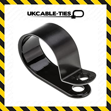 ukcable-ties Nylon schwarz Kunststoff P Clips 1/5,1 cm – 12,2 mm ...