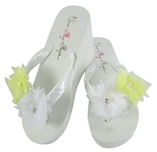 Amazon Cute Yellow White Flower Flip Flops Or Choose Any