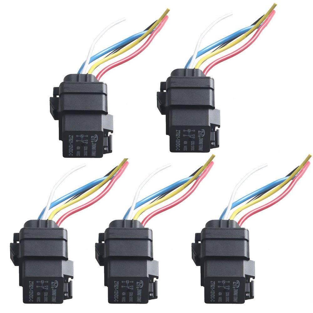Best Rated In Automotive Replacement Accessory Power Relays Dpdt Relay Wiring E Support Car Truck Motor Heavy Duty 12v 40a Spdt Socket Plug 5pin 5