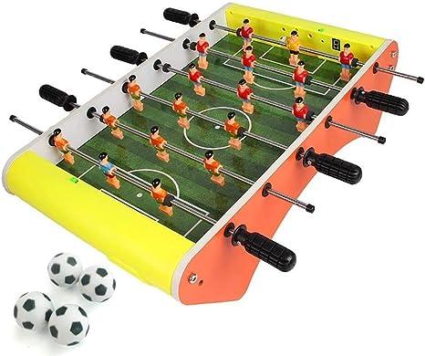 Automático de puntuación Mini Futbolín 6 Multi-Player de escritorio juguetes entre padres e hijos de Ocio Interactivo Entretenimiento Juguetes Mini portátil de Futbolín (Color: Amarillo) dongdong: Amazon.es: Deportes y aire libre