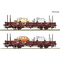 ROCO 67086 RENFE Stake Wagon Set with Fiat