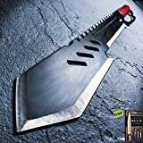 26'' HUNTING SURVIVAL Tanto Military FULL TANG MACHETE Fixed Blade Knife SWORD + Free eBook by SURVIVAL STEEL