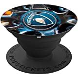 Black European Italian Sports Car Wheel - Racing Photo PopSockets Grip and Stand for Phones and Tablets