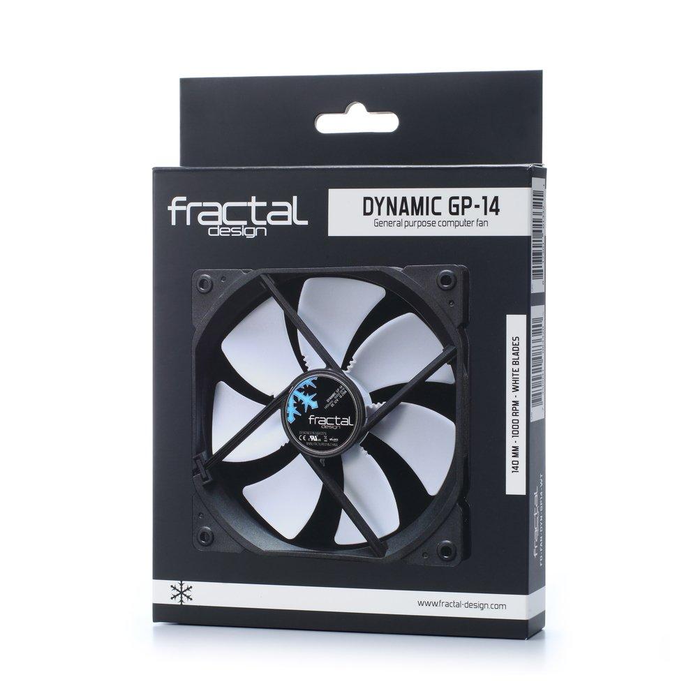 refoidisseurs et radiateurs refroidisseur et radiateur Ventilateurs Fractal Design FD-FAN-DYN-GP14-BK Boitier PC Ventilateur ventilateur Boitier PC, Ventilateur, 14 cm, 1000 tr//min, 18,9 dB, 68,4 cfm