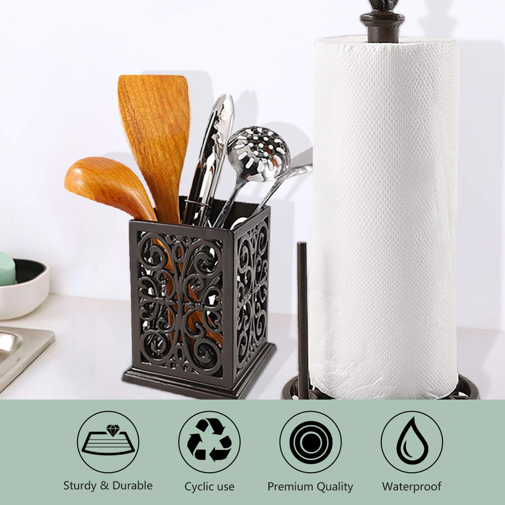 Vintage Decorative Kitchen Utensil Holder Cooking Utensil Organizer Perfect Gift for Cooking by JOGREFUL (Image #2)