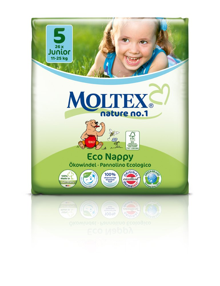 2-4 kg MOLTEX Nature No1 B/ÄR /Ökowindeln Babywindeln NEWBORN Gr 1 23 St