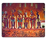 Liili Mouse Pad Natural Rubber Mousepad IMAGE ID: 9845534 Many people on the fresco in museum antropology in Mexico