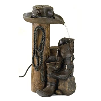 Amazon.Com: Gifts & Decor Wild Western Rustic Cowboy Hat Boot