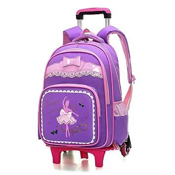 2a4b1b353 Mochila trolley para niños maleta bolsa Escuela primaria Estudiante Trolley  Bag Six Rounds Escaleras de escalada Mochila Chica Bolsa de reducción de la  ...