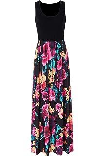Summer Fine Quality Cotton Maxi Aztec Floral Print Sun Dress One Size 8 10 12 14
