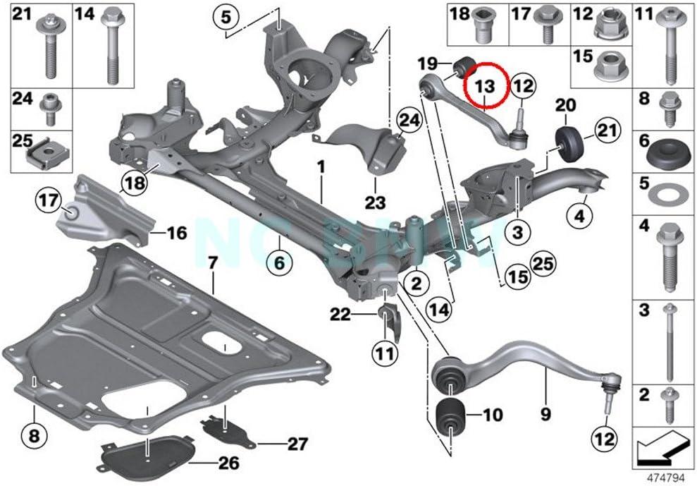 Amazon Com Bmw Genuine Left Wishbone Automotive