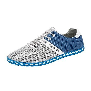Zapatos de hombre, Manadlian Nuevo Hombres Zapatos planos Estilo Moda Casual Malla Cómodo Zapatillas respirables
