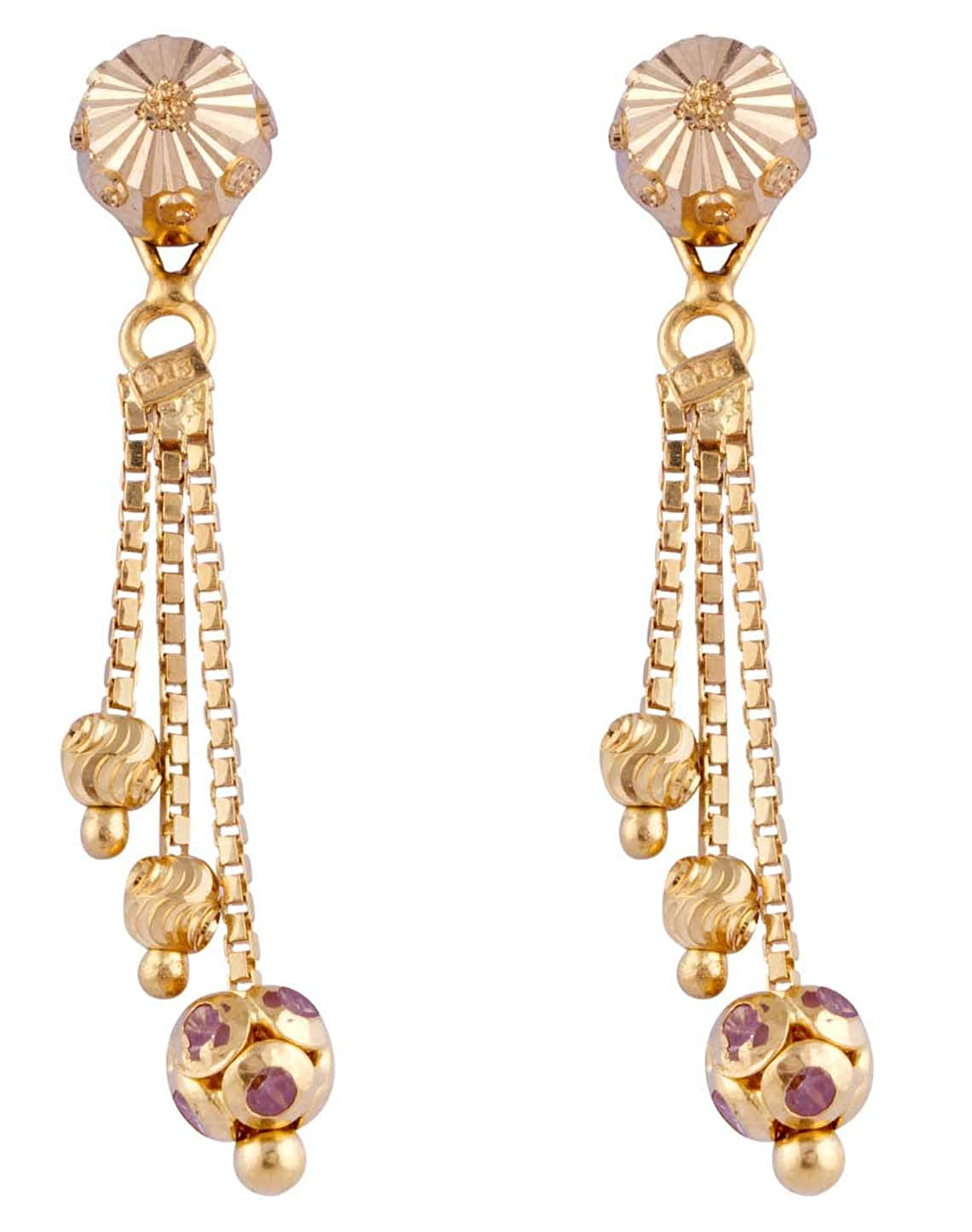 334b5eca7 Buy Paliwal Jewellers 22 KT Yellow Gold Sui Dhaga Earring For Women and  Girls Online at Low Prices in India | Amazon Jewellery Store - Amazon.in