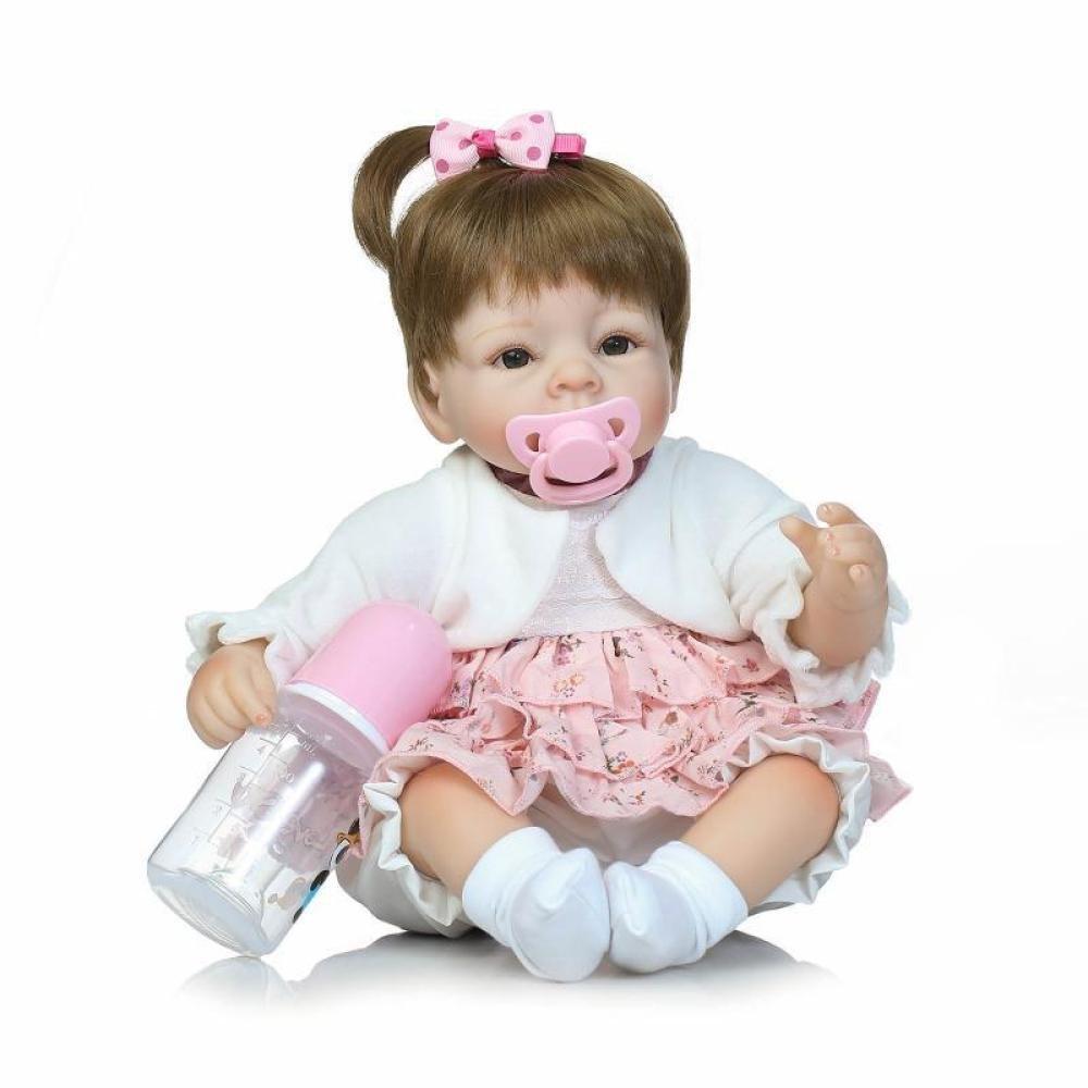 Nicery Reborn Baby Doll Soft Simulation Vinilo De Silicona 15.5 Pulgadas 40 Cm Magnético Boca Realista Toy Boy Girl Eyes Open