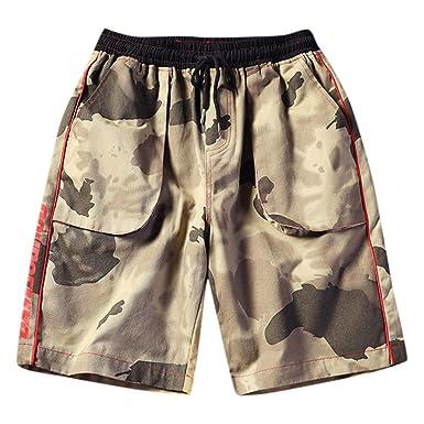 ZOELOVE Pantalones cortos Pantalones Cortos para Hombre Verano ...