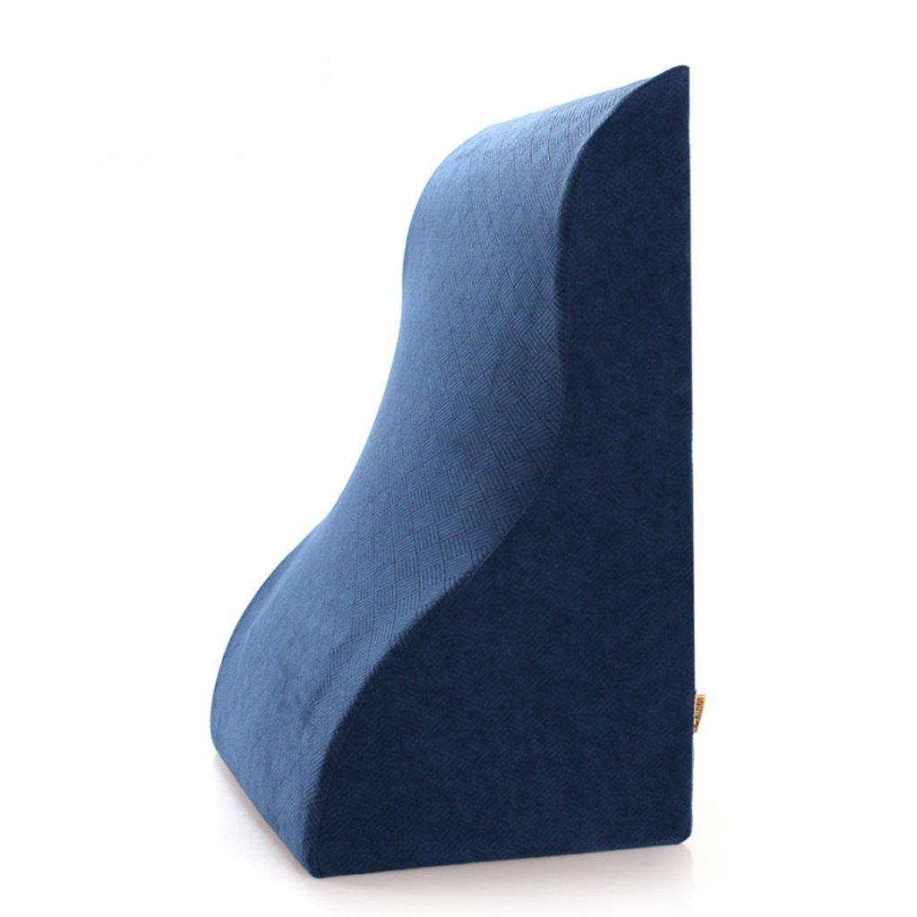 ウエストサポートパッドメモリピローファミリーオフィスの車の旅行ピロー63 * 49 * 33センチメートル ( Color : Navy blue ) B07B3LZVBP  Navy blue