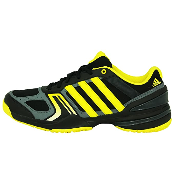 adidas Performance RALLY COURT OC Zapatillas Tenis Negro Amarillo Gris para Hombre Torsion System Q18V91