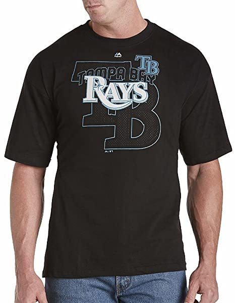 Amazon.com   Majestic Tampa Bay Rays MLB Mens Pop Shirt Black Big ... a3789866a