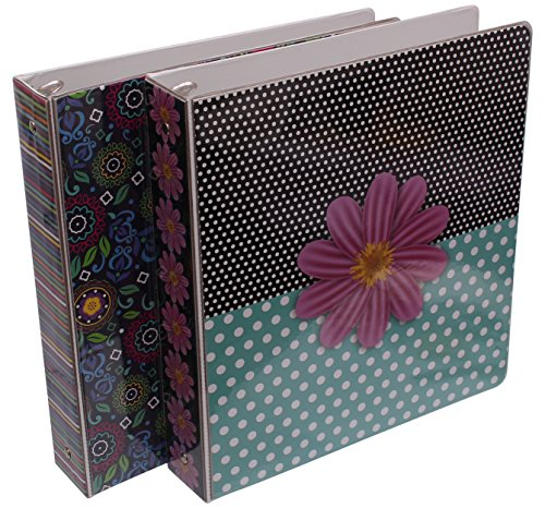 Emraw Sass & Class 3-Ring Binder 1.5-Inch - Used for Papers, Loose-Leafs, Business Cards, Compact Discs, Etc. (2-Pack)