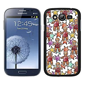 Funda carcasa TPU (Gel) para Samsung Galaxy Grand diseño estampado navideño muñeco galleta borde negro