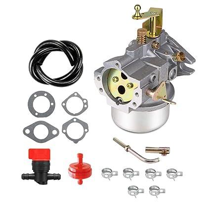 Amazon.com: Cnfaner Carburador para Kohler K321 K341 hierro ...