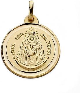 Médaille pendentif or 9k Virgen del Rocio 18mm. [AB0548] Inmaculada Romero TM