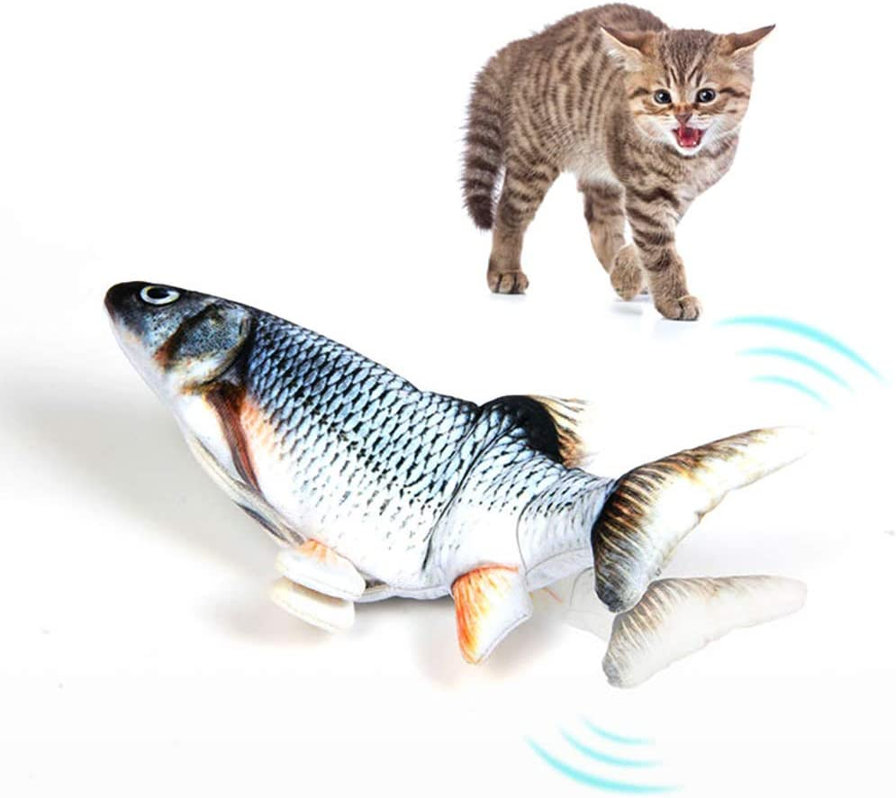 Ddfly Cat Toys Interactive with Catnip,Electric Fish Toy for Cats,Moving Cat Kicker Fish Toy