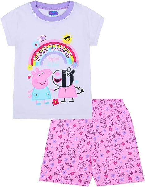 Pijama Corto de Peppa Pig y Zoey Good Times para niñas Rosa Rosa 4 ...