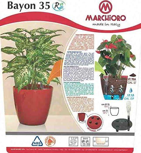 Pot plante int/érieur avec r/éserve deau BAYON 35 CREME