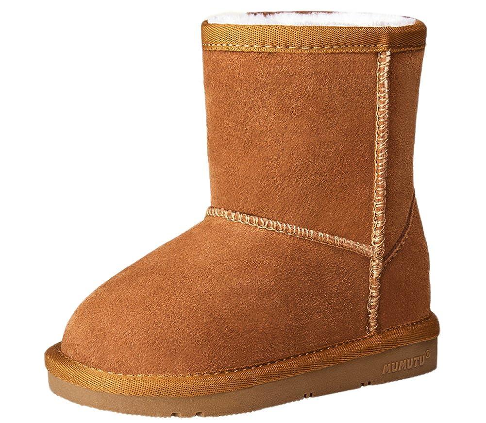 Vecjunia Girls Boys Waterproof Snow Boot Cold Weather Anti Slip Winter Mid Boots Toddler Little Kid Clarette Sandals Cristina Beige