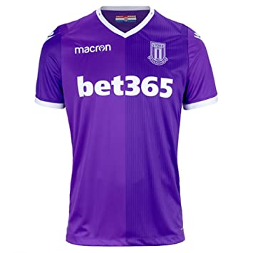 Macron 2018-2019 Stoke City Away Football Soccer T-Shirt Camiseta
