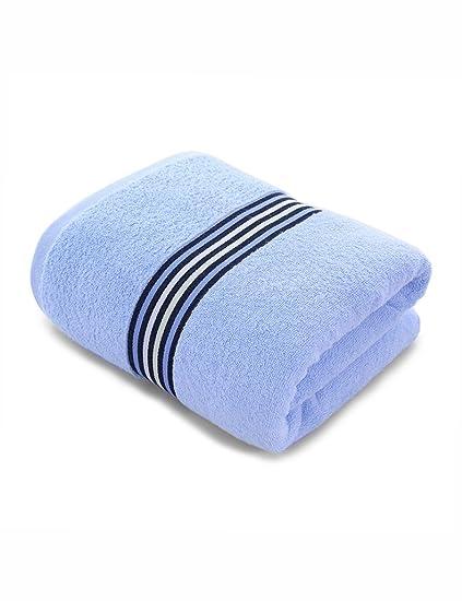 Toalla de algodón simple Absorbente Toallas suaves grandes Torcedura débil Las rayas horizontales que forjan las