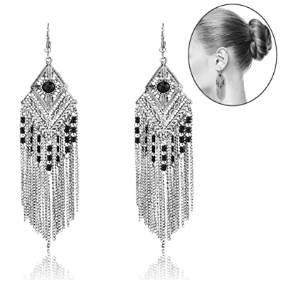 75b3e2862 Amazon.com: Tassel Dangle Drop Bohemian Earrings - YIFEI 2018 New Design Vintage  Dangling Beaded Chandelier Long Fashion Unique Ethnic Earrings For ...