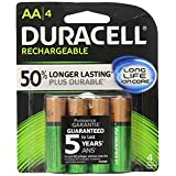 Duracell AA-RCHG-STAYx4 Rechargeables Staycharged AA Batteries, 4 Count