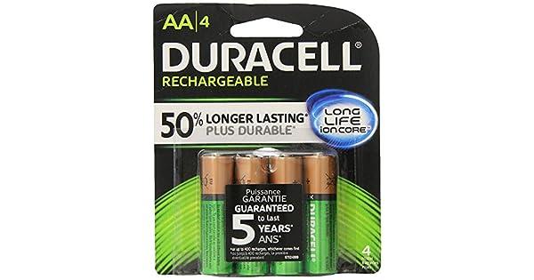 Amazon.com: Baterías recargables Duracell AA por 4 unidades ...