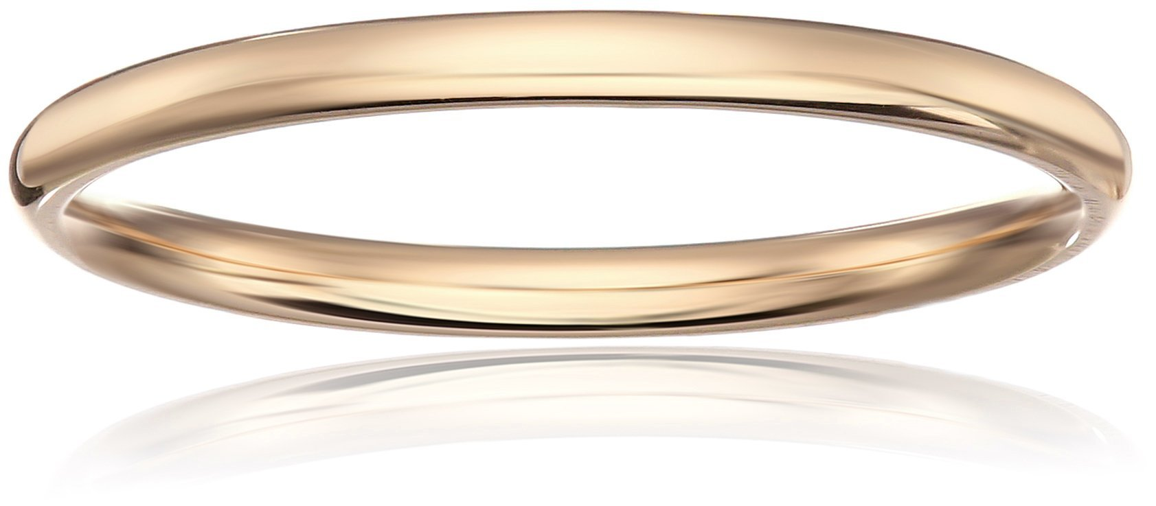 Standard Comfort-Fit 10K Yellow Gold Band, 2mm, Size 5