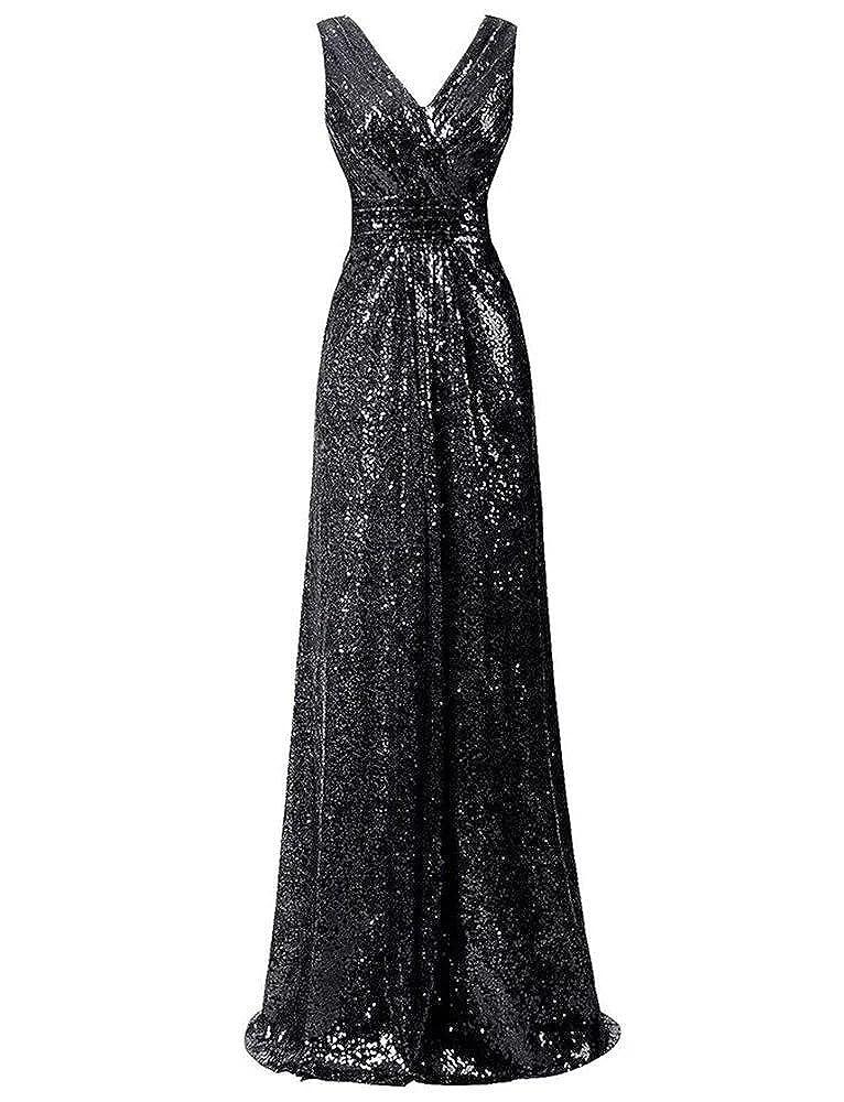 600 Black Lanier gold Sequins Bridesmaid Dresses Formal Evening Gowns